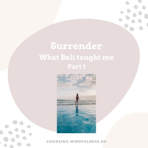 Surrender Bali spirituality