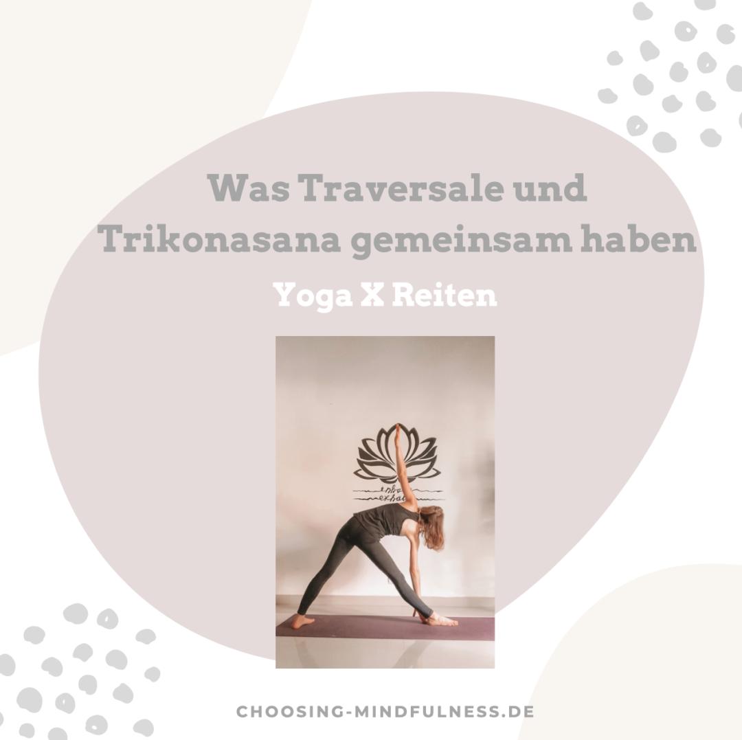 Traversalen und Trikonasana